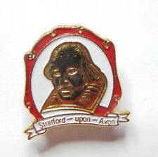 Enamel Stratford upon Avon Shakespeare Badge