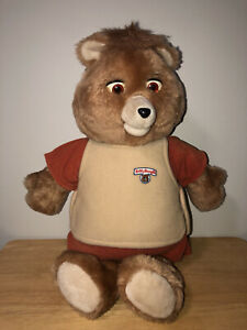 Vintage 1985 Teddy Ruxpin Talking Animated Cassette Playing Stuffed Plush Bear