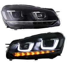 Led DRL Headlights Lamps For 2007 2010-2016 VW Volkswagen Golf MK6 Assembly