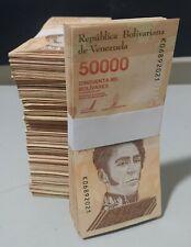Venezuela 2019 / 2020 1 BRICK (1000) PCS 50000 Bolivares VF, XF, AU USED z