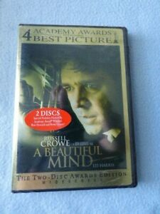 A Beautiful Mind (DVD, 2002, 2-Disc Set, Widescreen Awards Edition) ~ NEW