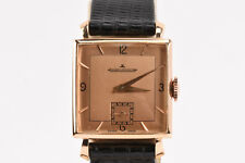 Jaeger-LeCoultre Solid 18k Rose Gold Men's Watch Cal 417/3B 17 Jewel Square Face