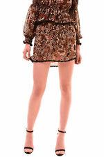 For Love & Lemons NBW Women's Chocolate Floral Mini Skirt RRP £120 BCF78