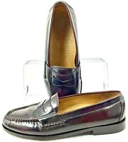 Cole Haan Pinch Penny Loafer Men 7.5 D Burgundy Leather Slip On Dress Shoe 03504