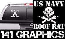 US Navy Roof Rat FOF Aircraft Carrier Flight Deck Crew Veteran Car Decal Sticker