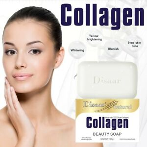 DISAAR Natural Collagen Beauty Soap Clear Face Smooth Skin Reduces Pores 100g