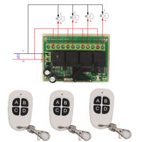 12V 4CH Relay Wireless Remote Control Switch Relay Module Receiver Transmitter