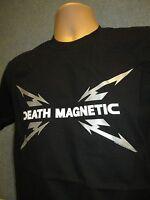 METALLICA Death Magnetic Black Band Logo T-Shirt (NEW Mens Large) Official Metal