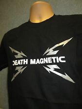 METALLICA Death Magnetic Black Band Logo T-Shirt (NEW Mens Large) Official Metal