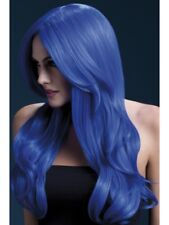 "Royal Blue Wig Ladies 26"" Long Deluxe Fancy Dress Accessory"