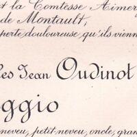 Armand Charles Jean Oudinot IVème Duc De Reggio 65 Avenue Marceau Paris 1905