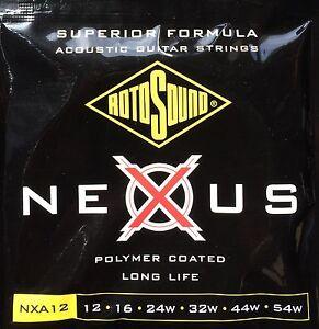 Rotosound Nexus Polymer Coated Acoustic Strings NXA12, 12-54