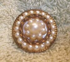 Vintage Pearl Brooch Pendant Pin