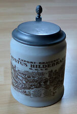 Bierkrug mit Zinndeckel * Justus Hildebrand Pfungstadt * Bierhumpen * Bierseidel