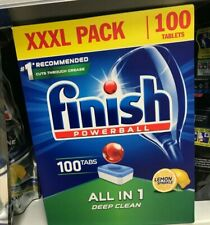 100 Finish Powerball All In One Dishwasher Tablets Lemon Sparkle XXXL All in 1.*