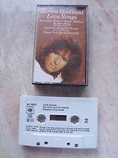 BARBRA STREISAND  cassette tape album LOVE SONGS