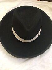 Morris sz/S Cowboy hat men's  BLK 100% wool NWOT CC/Universal Studios,ret $295