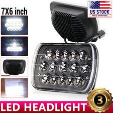 Black 5X7 7x6 LED Headlight For 1986-1995 Jeep Wrangler YJ 1984-2001 Cherokee XJ