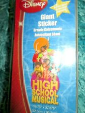 RARE * DISNEY HIGH SCHOOL MUSICAL GIANT WALL STICKER * 16.75 X 37.875 *REMOVABLE
