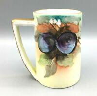 Antique Vienna Austria H. P. Leonard Hand-Painted Cup Mug Gold Trim