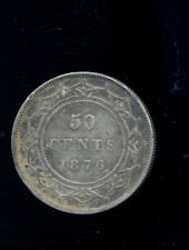 1876 Newfoundland Silver 50 Cents VF DCB852