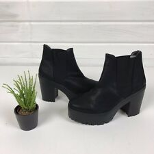 BN River Island Chunky Cleated Sole Platform Heel Chelsea Boots 7 / 40