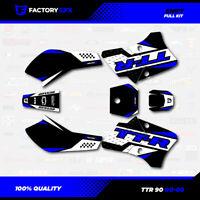 Black & Blue Shift Racing Graphics Kit fits 00-08 YAMAHA TTR90 TTR 90 decal