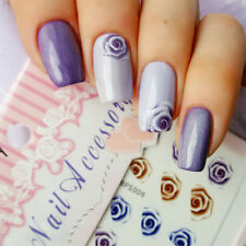 Nail Art Water Decals Transfer Stickers Charming Fantastic Rose Pattern Y037