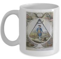 Freemason coffee mug - Keep within compass archaic cup - Masonic ritual gift PHA