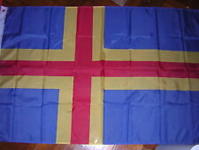 100% New Reproduced Flag of the Finnish islands of Aland Sweden Swedish Finland