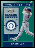 2020 Chronicles Contenders Optic Green #3 Gavin Lux /50 - Los Angeles Dodgers