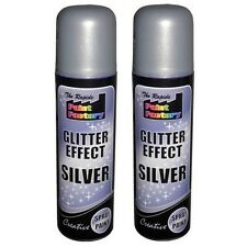 Silver Glitter Effect Spray Paint Decorative Creative Crafts Art DIY Design x 2