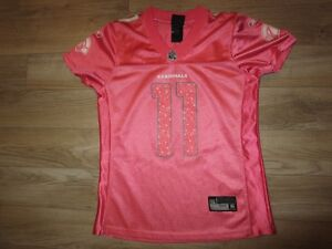 Larry Fitzgerald #11 Arizona Cardinals Pink NFL Reebok Jersey Womens M Medium
