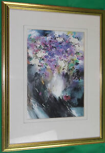 C. Le Smuir A Study In Purple Ultra Violet Abstract Art Print Gilded Gilt Frame