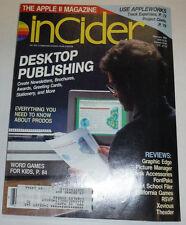 Apple InCider Magazine Desktop Publishing Word Games February 1988 111514R