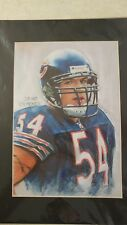 "Brian Urlacher Chicago Bears # 54 NFL Picture Signed 16""x 20"" In Plastic Photo"