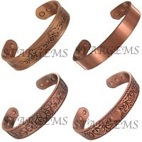 PERSONALISED COPPER MAGNETIC BANGLE CELTIC ARTHRITIS PAIN RELIEF MENS WOMENS