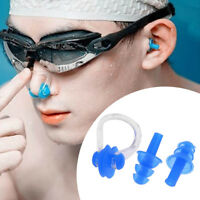 Unisex Silicone Nose Clip Ear Plugs Set Kids Adult Water Pool Sea Swimming