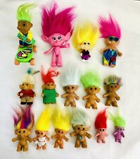 Troll Dolls Uneeda, M.T., Ace Novelty, Unknown, Mixed Brands Lot of 15 Vintage