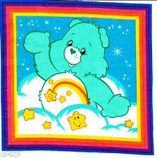 "7.5"" CARE BEARS WISH  BEAR CHARACTER NOVELTY FABRIC APPLIQUE IRON ON"