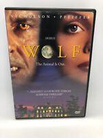 Wolf DVD Jack Nicholson Michelle Pfeiffer Widescreen Rare OOP