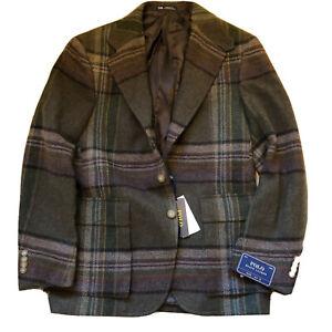 Ralph Lauren Blazer Tweed Style Jacket New RRP £599 Tartan 38 R