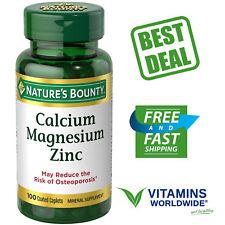 NATURE'S BOUNTY CALCIUM Magnesium Zinc 1000mg Bone Support Supplement 100 Caplet