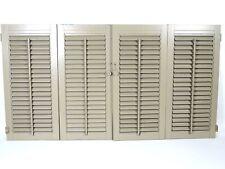"Vintage Wooden Indoor Plantation Window Shutters Blind Set (46.75"" x 25.25"")"