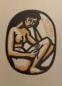 Erotisch Exlibris L. Rusek für A. Collart, Erotic