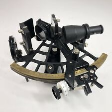 Antiques Antique Nautical Working German Marine Sextant W/ Wooden Box Brass Sextant Gift Large Assortment