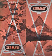 Prospectus-Tourisme : ZERMATT, Suisse. Travel Ephemera 1955