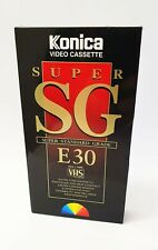 5 x Konica Super SG E-30 VHS Blank Video Tapes