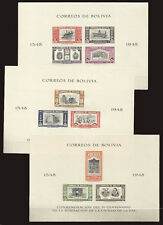 BOLIVIA Mi Bl 5 B - 6 B - 7 B Imperforate MNH