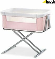 Hauck Face To Me Bedside Baby Crib Travel Bassinet Cradle Cot Moses Basket Pink
